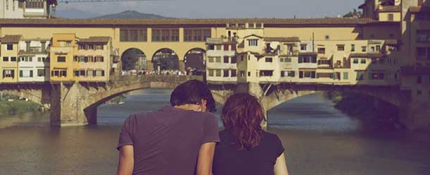 Liebespaar am Ponte Vecchio